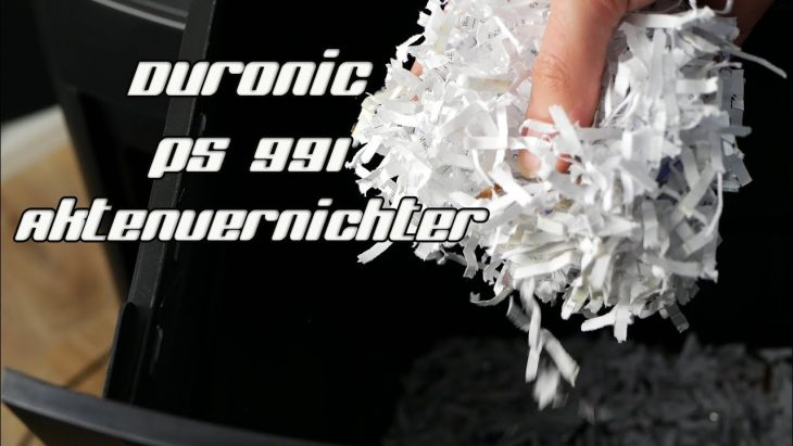 Duronic PS991 Der beste Aktenvernichter ? CD Shredder in Test